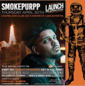 Smokepurpp To Perform at The 12th Annual LAUNCH Music Conference & Festival in Lancaster