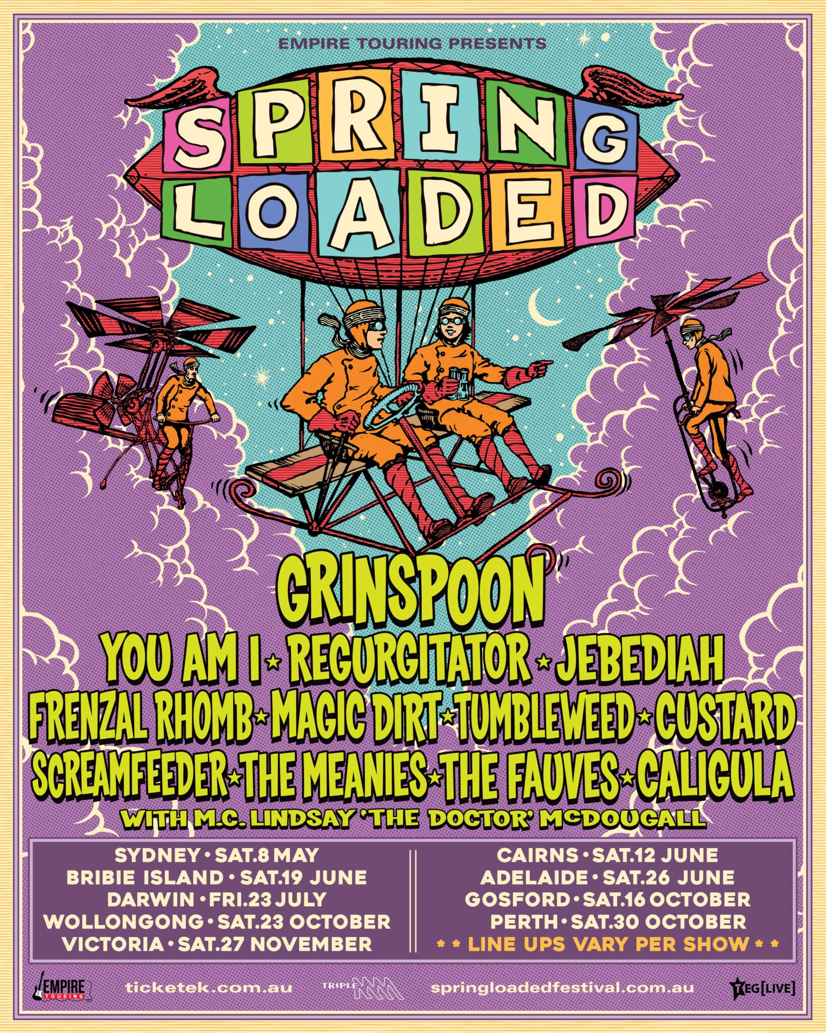 Ultimate Aussie ALT Rock Festival SPRING LOADED